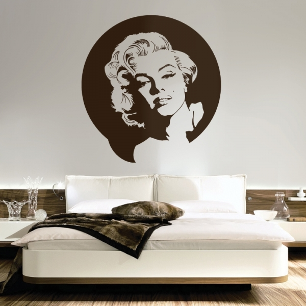 Sticker mural Marylin Monroe - mur salon